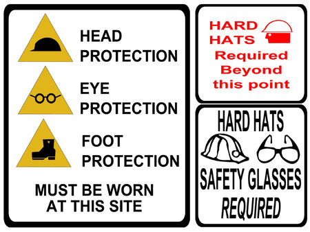 safety hat: construction safety signs