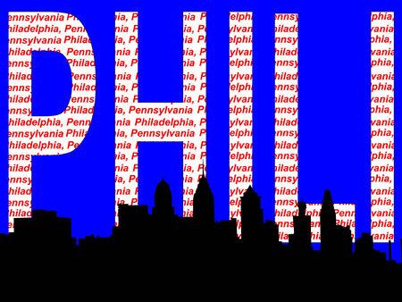 philadelphia: Philadelphia skyline illustration Illustration