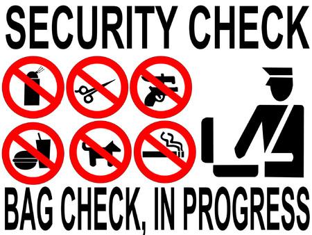 inspeccion: Muestra en marcha de la inspecci�n del bolso del cheque de la seguridad