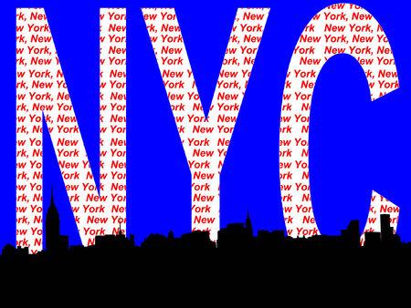 chrysler: Midtown manhattan New York City skyline illustration against New York collage