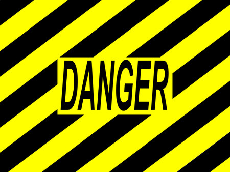 jeopardy: danger warning sign with yellow and black stripes Illustration