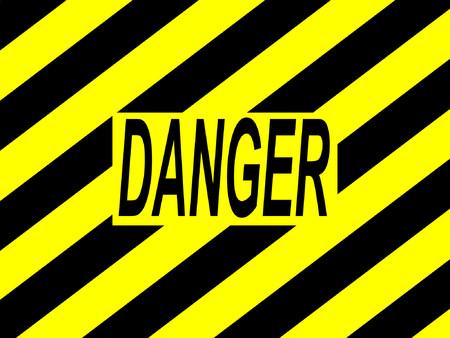 danger warning sign with yellow and black stripes Ilustração