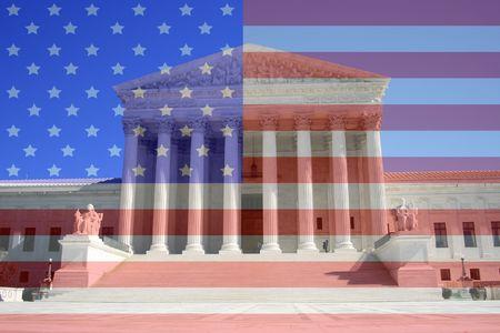 tempio greco: Corte Suprema di Washington DC che assomiglia a un tempio greco Archivio Fotografico