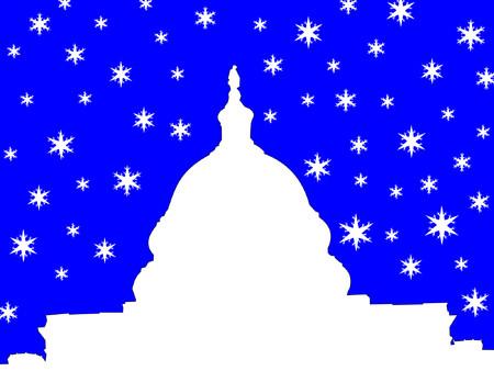 capitol building Washington DC in winter Stock Vector - 631546