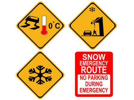 American winter warning signs Vector