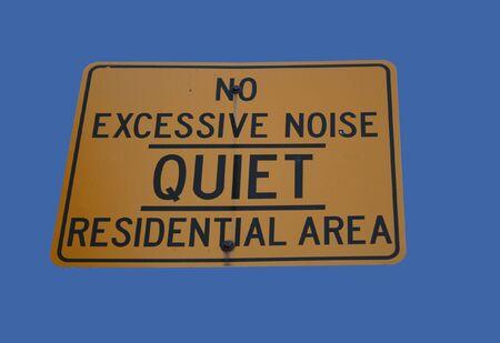 excessive: no excessive noise quiet residential area Stock Photo