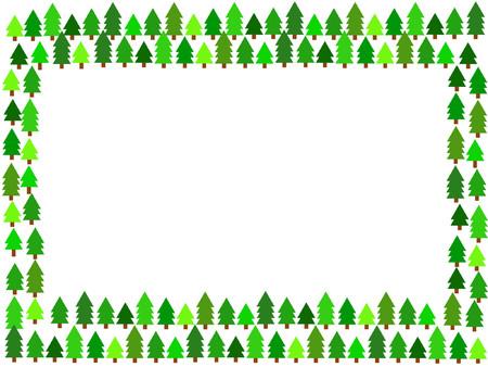 arranged: christmas trees arranged in a frame orientation Illustration