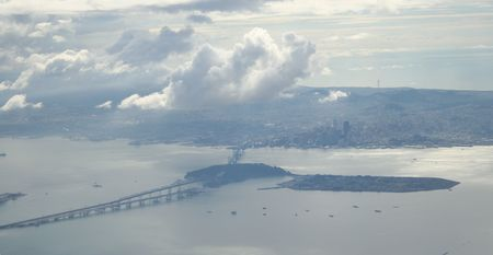 San Francisco Bay  area from the air photo