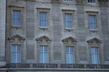 buckingham palace: Buckingham Palace of windows and balcony detail