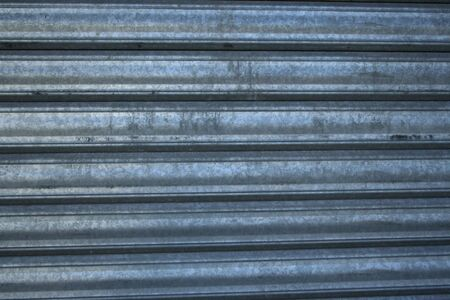 security shutters: metal security shutters with horizontal ridges