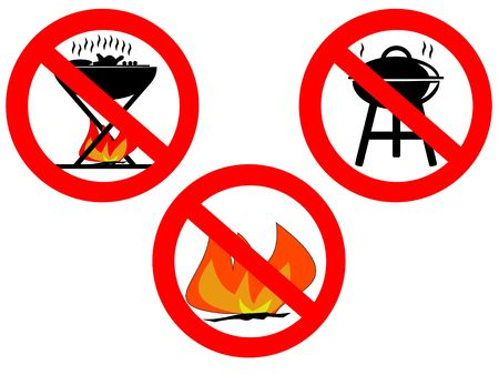 no barbecue or fires sign