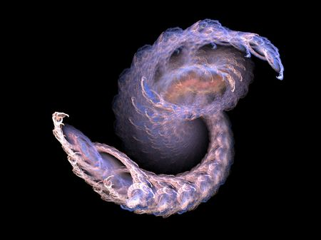 촉수: sea creature tentacle rendered fractal