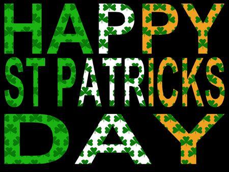 Happy St Patricks day against Irish flag illustration Stock Illustration - 703244