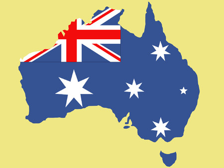 Australian map and flag illustration