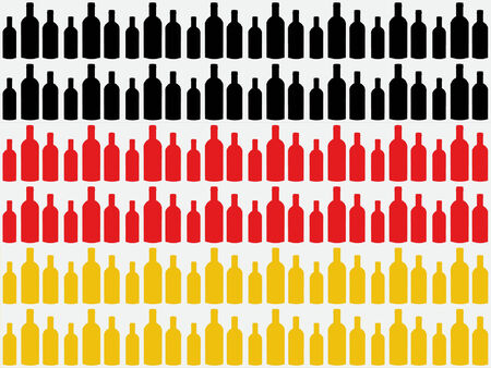 bottles cut out against German flag Vector