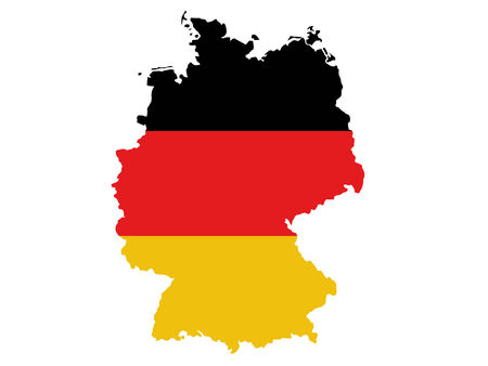 map of Germany and flag illustration Illustration