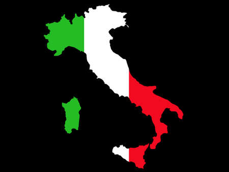 map of Italy and flag illustration Stock Vector - 707197