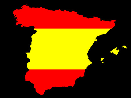realm: map of Spain and flag illustration
