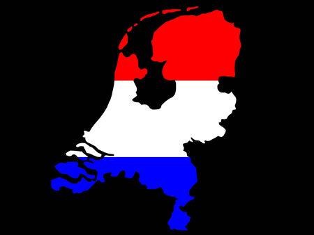 map of Netherlands illustration Stock Vector - 709359