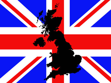 map of united kingdom illustration Vector