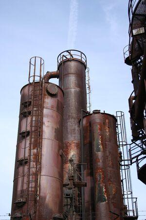 rusting: rusting industrial structure former gasworks