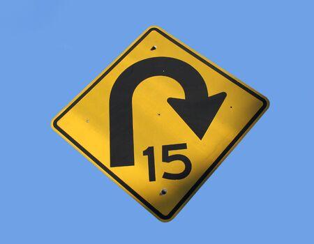 mph: 15 mph speed limit very sharp bend