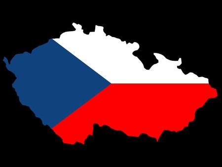 czech republic: map of Czech republic and flag illustration Illustration