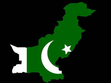 flag of pakistan: map of Pakistan and Pakistani flag illustration