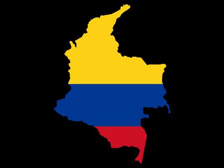 columbian: map of Columbia and columbian flag illustration