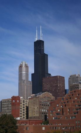 Sears tower Chicago southern view photo