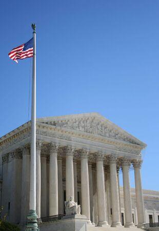 supreme court: Supreme Court and American Flag