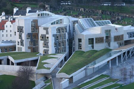 ruling: Aerial view of Scottish Parliament Edinburgh