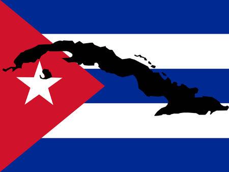 bandera cuba: mapa de Cuba y de la ilustraci�n cubano de la bandera Vectores