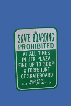 No skateboarding extreme penalties Love Park Philadelphia photo