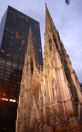 fifth: St Patricks cathedral fifth Avenue New York City Stock Photo