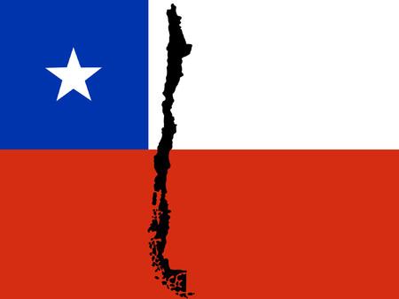 chilean flag: mapa ya Chile de bandera chilena ilustrativo