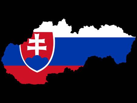 slovakian: map of slovakia and slovakian flag