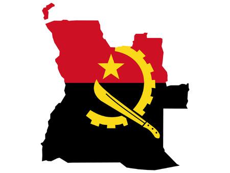 angola: map of Angola and Angolan flag illustration