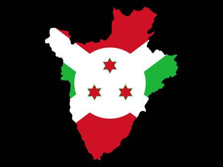 bujumbura: map of Burundi and Burundian flag illustration