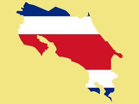rican: Mapa de Costa Rica y de Costa Rica bandera ilustraci�n