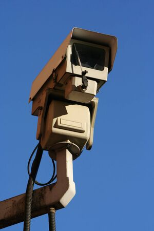 CCTV camera against blue sky Stock Photo - 743801