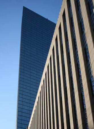 john hancock: Skyscraper abstract Boston with John Hancock Tower