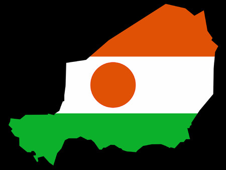 map of Niger and flag illustration Vector