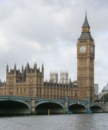 houses of parliament and westminster bridge London photo