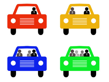 high occupancy Vehicle silhouettes