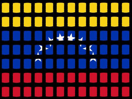 venezuelan: Los tambores de aceite y bandera venezolana  Vectores