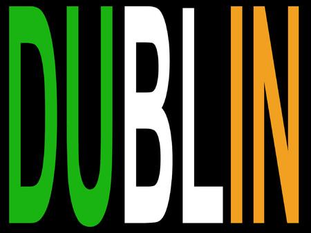 City of Dublin and Irish flag illustration Vector