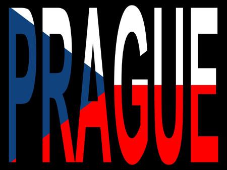 czech flag: Citt� di Praga e di bandiera ceca illustrazione