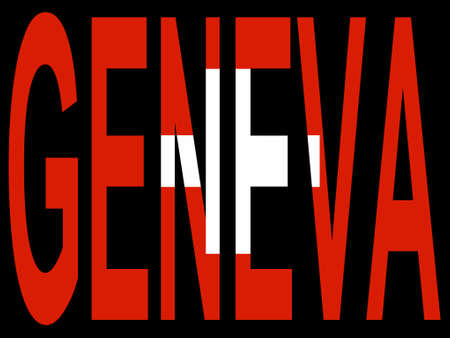 City of Geneva and Swiss flag illustration Vector