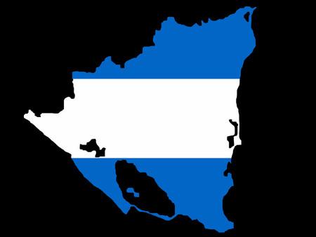 map of Nicaragua and Nicaraguan flag illustration Vetores